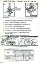 1966-67 BARRACUDA  JACK INSTRUCTION  DECAL