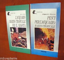 Lotto 2 libri Pesci per L'acquario marino tropicale per il neofita Gulliver 1996