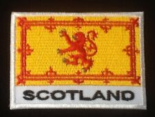 SCOTTISH RAMPANT LION ROYAL STANDARD OF SCOTLAND BADGE IRON SEW ON PATCH BANNER