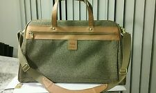 HARTMANN GREY TWEED & BELTING LEATHER WEEKENDER DUFFLE BAG W/ U-SHAPE STRAP NWOT