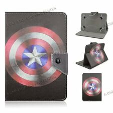 """For 7"""" 7.9"""" inch tablet PC PU Leather Folio Case Cover captain America universal"""