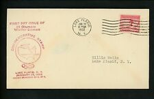 US FDC #716 Chamber of Commerce M-32a 1932 Lake Placid Winter Olympics Sports