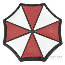 VINYL MORALE PATCH VELCRO PANEL RUBBER UMBRELLA CORPS RESIDENT EVIL LOGO