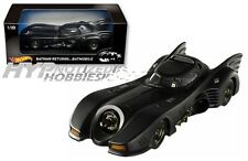 1:18 HOT WHEELS 1992 BATMAN RETURNS BATMOBILE  MICHAEL KEATON CMC96