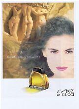 PUBLICITE ADVERTISING 104 1991 L'Arte di GUCCI eau de parfum 1            011014