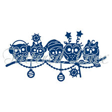 Tattered Lace Cutting Dies  OWL FAMILY CHRISTMAS D1369
