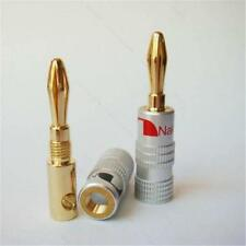 New 1pcs 24K Gold Plated Nakamichi Speaker banana plug Audio Jack connector ^ UP