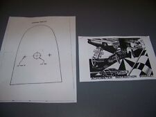 Dixco Hood Tach MOUNTING INSTRUCTIONS & TEMPLATE...RARE!