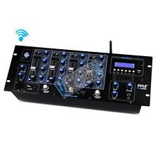 Pyle Pro PYD1962BU 4-Ch Bluetooth LCD Display DJ Mixer w/ USB & SD Card Readers