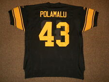 Troy Polamalu Pittsburgh Steelers Throwback Authentic Jersey Reebok sz 54 New
