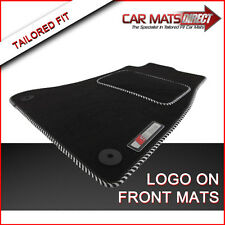 AUDI A4 S LINE 08-ON Tailored Car Floor Mats Velour Carpet/Silver Trim + Logos