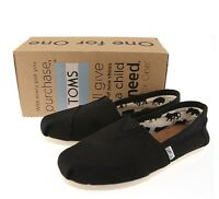 TOMS Classic Black Canvas Women Sneakers 001001B07 Sz5-10 Fast Shipping