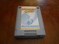 MEMORY CARD NINTENDO 64 N64 System P-302 By Performance