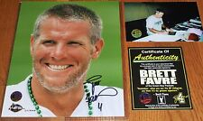 GREEN BAY PACKERS BRETT FAVRE 4 SIGNED LIMITED EDITION 8x10 WALLENFANG PHOTO COA