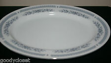 "NORLEANS JAPAN FINE CHINA 12 3/8"" SERVING PLATTER FANTASY PLATINUM TRIM"