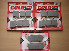 HONDA VFR 1200   FULL SET FRONT & REAR BRAKE PADS   GOLDFREN HH SINTERED CERAMIC