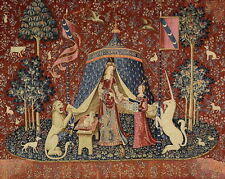 Lady and Unicorn A Mon Seul Desir To My Only Will Medieval Large Tapestry 40x56