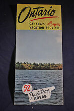 Ca 1960 Ontario, Canada's All Year Province - 52 Vacation Areas