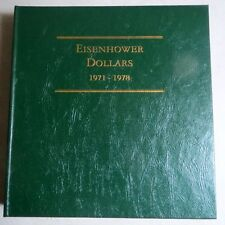 1971-78  EISENHOWER DOLLARS, 3-Page ALBUM w/ PROOFS from LITTLETON, NO COINS #B
