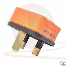 HEAVY DUTY Black, White or Orange UK 3 Pin Plug. 13 amp. HDPT13B-01 Permaplug