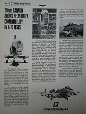 6/1974 PUB FAIRCHILD REPUBLIC A-10 USAF GAU-8 30MM CANNON GATLING ORIGINAL AD
