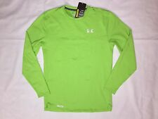 NWT, Men's Under Armour ColdGear®Fitted Crewneck Long Sleeve shirt-LARGE-GREEN