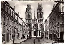 45 - Orléans - Cathédrale Sainte-Croix et rue Jeanne d'Arc - CP années 1950