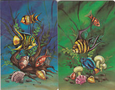 Vintage Swap/Playing Cards -2 SINGLE - TROPICAL FISH