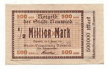 GERMANY NEUWIED 500000 MARK 1923 NOTGELD EMERGENCY MONEY LOOK SCANS