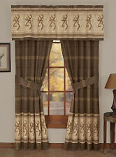 BROWNING BUCKMARK WINDOW CURTAINS - DRAPES