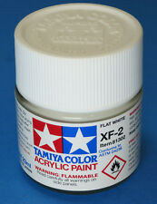 Tamiya FLAT WHITE  Acrylic Hobby Model Paint XF-2 XF2 23ml Bottle 81302