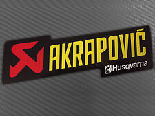 1 Adesivo Sticker AKRAPOVIC HUSQ Alte Temperature High Temperatures Exhaust