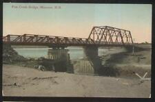 POSTCARD MONCTON N.B. CANADA FOX CREEK STEEL SPAN BRIDGE 1907