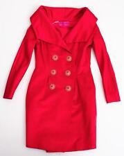 CHRISTIAN LACROIX Womens Vintage Red Silk Long-Sleeve Dress Jacket Coat US 6/S