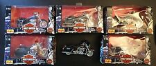 SERIES-1-1997-MAISTO-HARLEY-DAVIDSON-MOTORCYCLES-1-18-SCALE-FULL-SET-OF-6-NOS