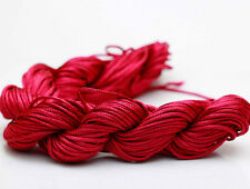 Wine red  28M/roll 1mm Chinese Knotting Nylon Thread Cord  Beading Bracelet Rope