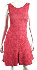 CHANEL 13C Pink Versailles Jacquard Stretch Sleeveless Fit & Flare Dress 34