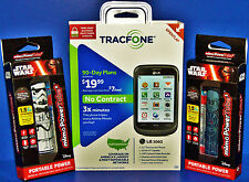 BRAND NEW TRACFONE LG 306G No Contract Phone - 3x Minutes For Life + BONUS