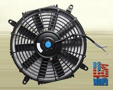 "14"" inch Universal Slim Fan Push Pull Electric Radiator Cooling 12V Black Kit"