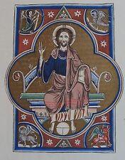 Page à fond d'or du Psautier de Saint Louis. Phototypie Jacomet, enluminure J. S
