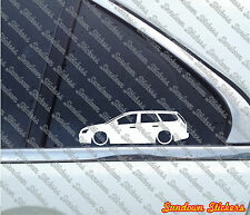 2x Lowered car outline stickers - for Ford Focus mk2 wagon turnier (euro, 2004+)
