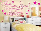Twinkle Twinkle Little Star wall Art room Sticker decal childrens Nursery rhyme