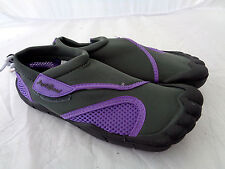 Women Aqua Shoe Outlined Toes Water Shoes Ladies Beach Pool Swim Surf S6092