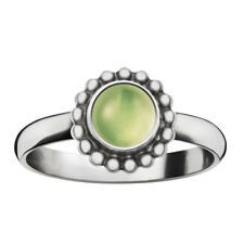 Georg Jensen Silver Ring # 9 B MOONLIGHT BLOSSOM with Peridot - HERITAGE COLL.