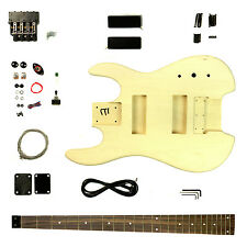 BASS - Headless Body Style - DIY Unfinished Project Luthier Electric Guitar Kit!