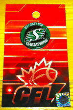 101th Grey Cup CFL Football Lapel Pin Button Saskatchewan Roughriders Champions