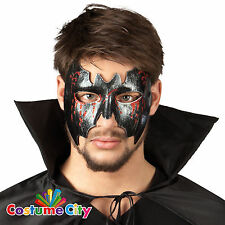 Adulti Gotico Nero Vampiro Pipistrello Masquerade Maschera Halloween Fancy Dress accessorio