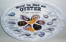 HOW TO EAT AN OYSTER In Eight Easy Steps Melamine Platters 4 Ct