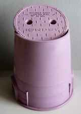 Lot of 9 NDS Pink 6 inch Round Valve Box with Cover For Reclaimed Water