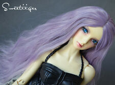 "8-9"" 1/3 BJD Hair IP SD doll wig Super Dollfie ash purple fantasy wave long hair"